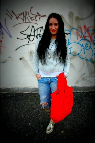 marcelajezkova bag - vintage jeans - H&amp;M sweater - Zara sneakers