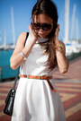 White-new-look-dress-dark-brown-le-bunny-bleu-loafers