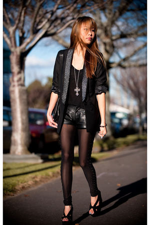 black modcloth blazer - black modcloth top