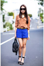 Bronze-country-road-shirt-blue-river-island-shorts