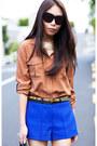 Bronze-country-road-shirt-blue-river-island-shorts
