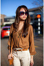Burnt-orange-scarlet-room-top-ivory-zara-pants