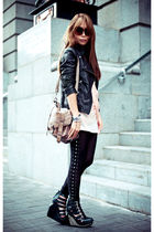 black Jeffrey Campbell shoes - brown Just jeans jacket