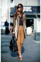 tan Topshop coat - camel wool Topshop pants