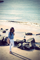 blue River Island shirt - white asos jeans