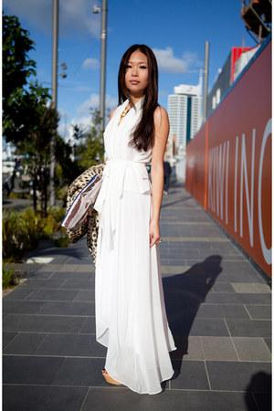 white Schwing schwing dress - aquamarine asos heels