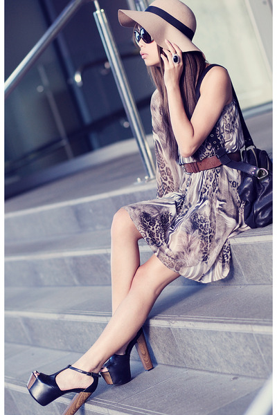 tan asos dress - Jessica Simpson shoes