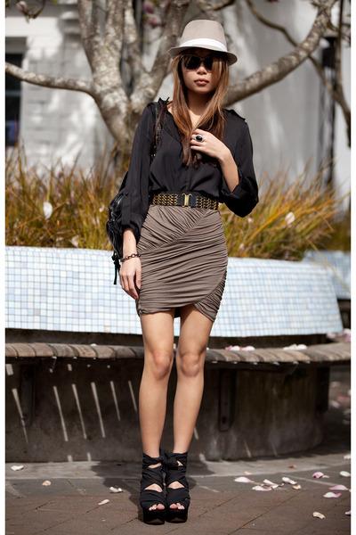 black free people shoes - black Comme des Garcons blouse