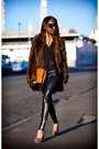 Brown-asos-coat-black-black-milk-leggings