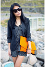 Black-zara-blazer-orange-asos-bag