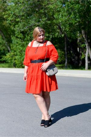 H&M dress - Chloe bag - Zara heels