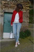 Camaïeu jacket - H&M jeans - Zara jumper