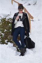 Topshop boots - Zara sweater