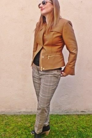 light brown H&M jacket - black Gap boots - black Splendid shirt