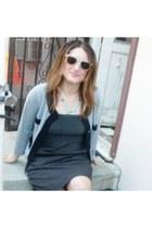 heather gray J Crew cardigan - black Target dress