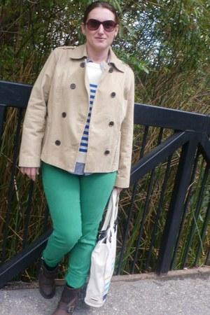 green AG jeans - dark brown Frye boots - dark khaki Old Navy jacket
