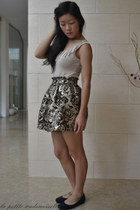 gold skirt La Petite Mademoiselle skirt - beige bodysuit Azuki bodysuit