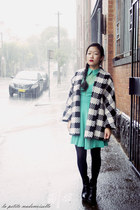 gray coat Loela coat - green dress Minty Meets Munt dress