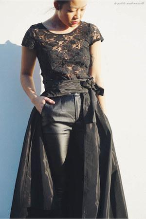 black lace top general pants top - black pants  skirt Asilio pants