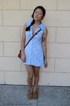 crimson bag La Petite Mademoiselle bag - sky blue dress House Of Cards dress