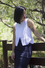 White-top-witchery-top-navy-skirt-saba-skirt-neutral-heels-rmk-heels