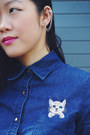 Black-boots-hush-puppies-boots-navy-cat-shirt-romwe-top