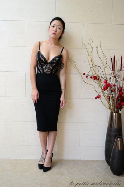 black corset pleasure state intimate - black skirt asos skirt