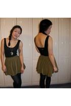 olive green La Petite Mademoiselle skirt - black La Petite Mademoiselle dress