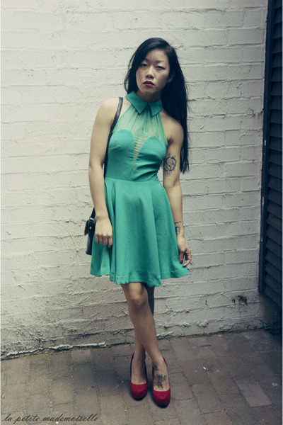 turquoise blue dress Minty Meets Munt dress