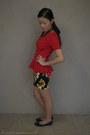 Bronze-necklace-sportsgirl-necklace-red-peplum-top-glassons-top