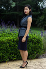 Heather-gray-vest-karen-millen-top-navy-skirt-saba-skirt