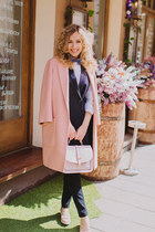 peach Zara coat
