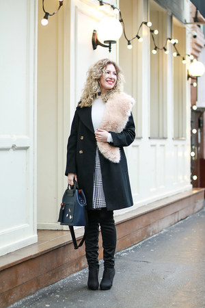 white Marc Jacobs skirt - black asos coat