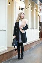 white Marc Jacobs skirt - black asos coat
