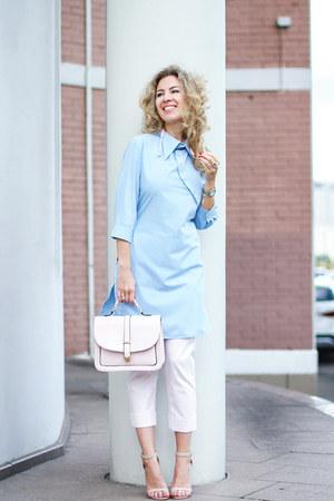 periwinkle Aliexpress dress - light pink Zara pants