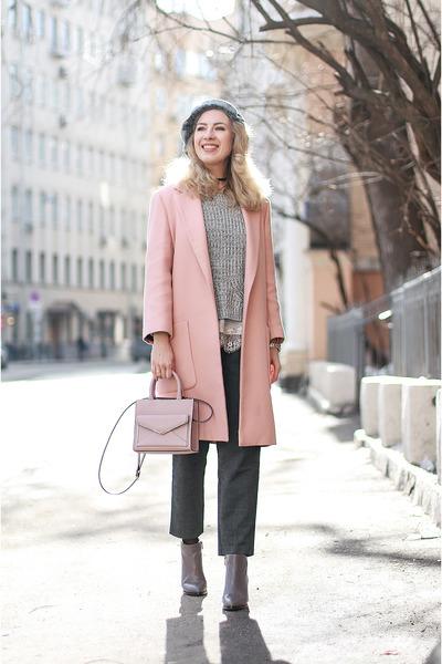 pink Zara coat - light pink Rebecca Minkoff bag