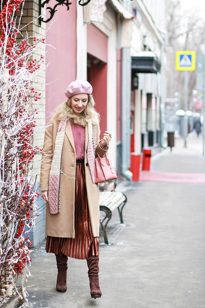 pink Michael Kors bag - dark brown zaful skirt