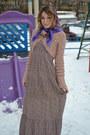 Dress-mango-sweater-vintage-scarf