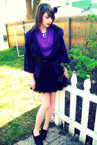 Charlotte Russe blazer - Forever 21 skirt - Ann Taylor shirt - Goodwill necklace