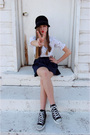 White-forever-21-blouse-blue-forever-21-skirt-black-converse-shoes-black-t