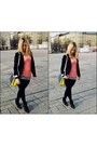 Black-topshop-leggings-navy-link-blazer-fendi-bag