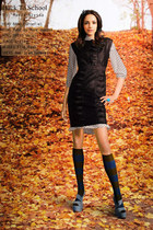 mini dress Vergi dress - tunic Greta dress - American Apparel socks - Elie Saab