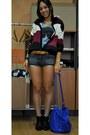 Black-asos-boots-blue-blanco-bag-h-m-shorts-maroon-nikita-clothing-hoodie-