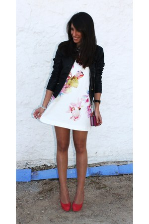 black Pimkie jacket - ivory Zara dress