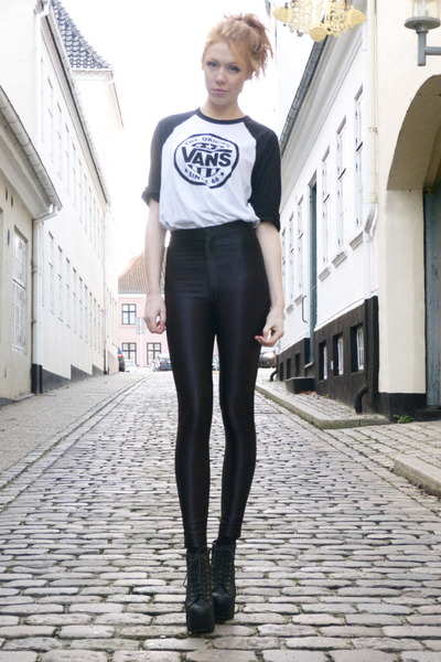 disco American Apparel pants - Vans t-shirt