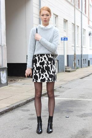 black Zara boots - heather gray asos sweater