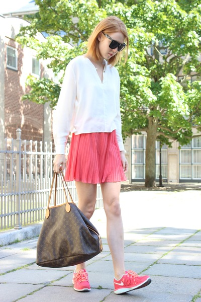 carrot orange River Island skirt - ivory Other Stories shirt