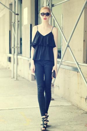 black lovely top - black Aphrodite jeans