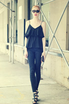 black lovely top - black Aphrodite jeans