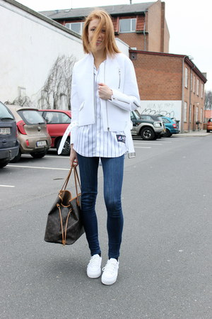 white Fanny Lyckman for Nelly jacket - white asos flats